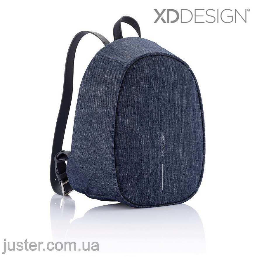 Рюкзак Bobby Elle Антивор Новинка 2019 Xd Design синий джинс (P705.229) denim blue