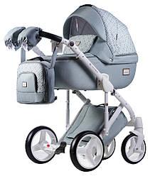 Детская коляска универсальная 2 в 1 Adamex Luciano jeans Q221 (Адамекс Лусиано, Польша)