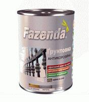 Грунтовка антикоррозионная ГФ-021 Fazenda алкидная серая 0.9 кг