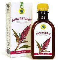 Амарантовое, масло льняное пищевое с экстрактом амаранта - 0,2 л ,