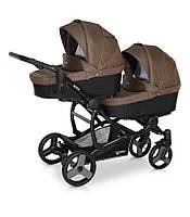 Детская коляска для двойни Verdi FOR2 08 коричневый
