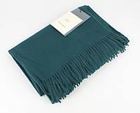 Плотный, нежный кашемировый шарф, палантин Sky Cashmere 7080-12 цвета морской волны
