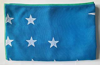 Флаг Узбекистана (Аппликация) - (1м*1.5м)