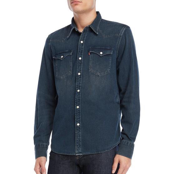Джинсовая рубашка Levis Denim Western - Tint Dark