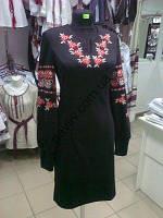 Платье вышиванка Ружа черное джерсі  1чорП2С1 37(1)