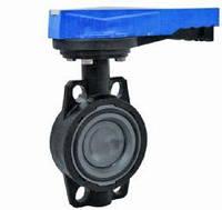 Поворотный дисковый клапан с ручным управлением PVC