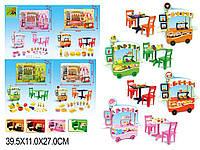 """Мебель """"Кафе"""" 4 вида, стол,стулья,аксесс, в кор.40*11*27см /18-2/(127-1/2/3/4)"""