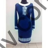 Платье вышиванка Маланка синяя джерсі  1синП1С2 37