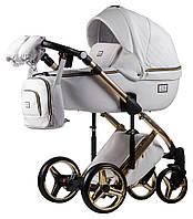 Детская коляска универсальная 2 в 1 Adamex Luciano кожа 100% Q107 (Адамекс Лусиано, Польша)