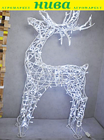 Олень новорічний h 130 см гірлянда LED 100 лампочок