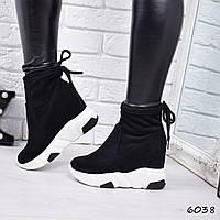 Сникерсы женские Viva черные , женская обувь
