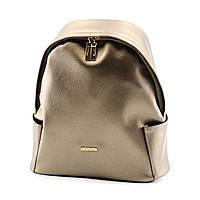 Рюкзак жіночий бронзовий зі штучної шкіри / Рюкзак женский бронзовый из искусственной кожи, фото 1