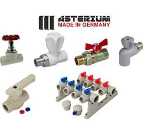 Краны и коллектора Asterium для полипропиленовых (PPR) труб