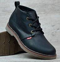 5c6e9f8f7dfa Кожаные Зимние Мужские Ботинки LEVIS с мехом, теплая зимняя мужская обувь  на зиму