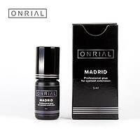 Профессиональный черный клей для наращивания ресниц «Madrid», 0,5-1сек. 3 мл