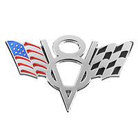 Металл V8 Американский флаг мотоцикл Стикеры для украшения Авто Значки отличия эмблемы 1TopShop