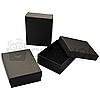 Коробка для бижутерии 7х9х3см - Черная матовая