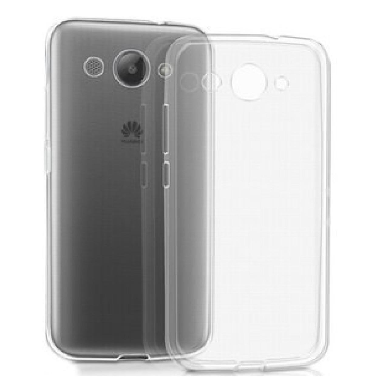 Силиконовая накладка Ultra-thin на Huawei Y3 (2017) Clean Grid Transparent
