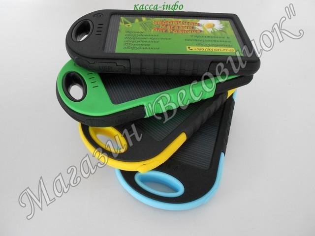Солнечное зарядное устройство 10000 mAh (пыле – влагозащищенное)