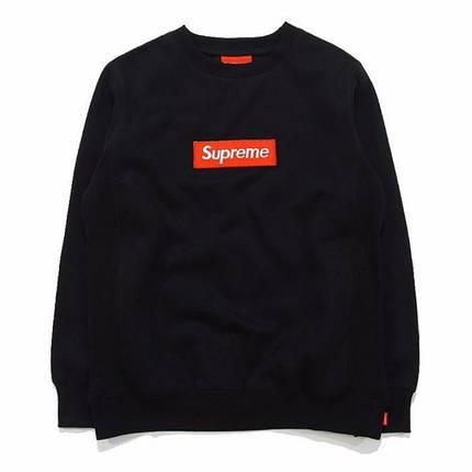 Свитшот Supreme Чёрный | Вышитый (размер S), фото 2