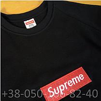 Свитшот Supreme Чёрный | Вышитый (размер S), фото 3
