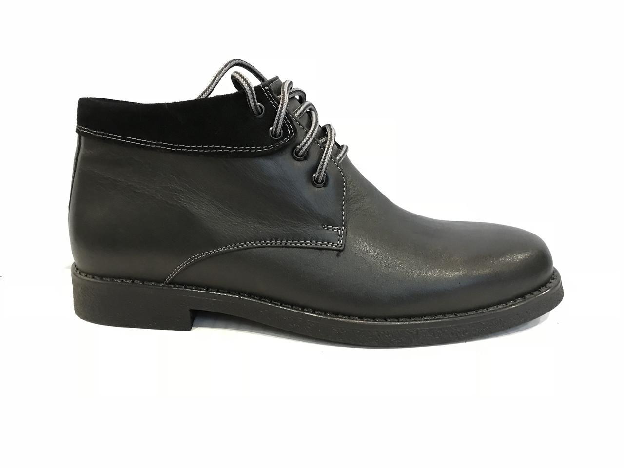 Зимние кожаные ботинки KADAR 2209-414