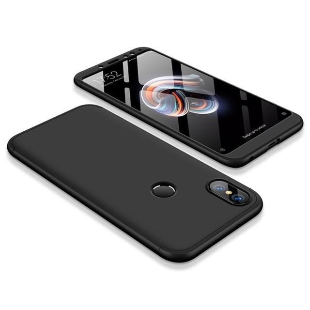 Пластиковая накладка GKK LikGus 360 градусов для Xiaomi Redmi Note 5 Pro / Note 5 (DC) Черный