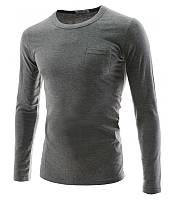 Мужская футболка с длинным рукавом из вискозы