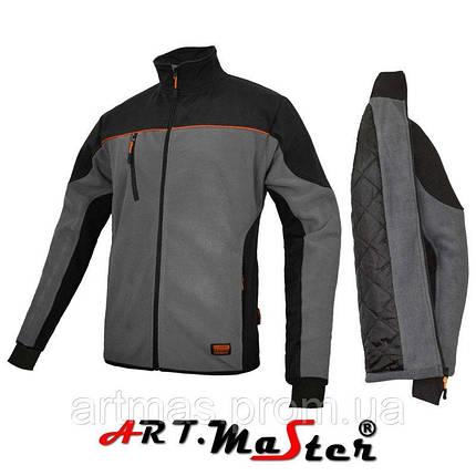 Флисовая куртка ARTMAS серого цвета ClasPRO+PIK- kurtka polar, фото 2