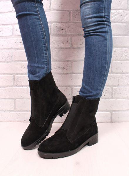 Ботинки спереди резинка, сзади молния нат. замш