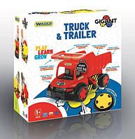 """Машина грузовик """"Гигант""""+ тачка (лимитированная коллекция), в кор.55*60*32 см, ТМ Wader(65110)"""