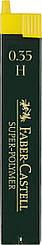 Грифель для механического карандаша Faber-Castell Super-Polymer Н (0,3 / 0.35 мм), 12 штук в пенале, 120311