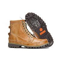 Оригинальные мужские ботинки Timberland Rugged High Yellow(Тимберленд) - светло-коричневые, с мехом