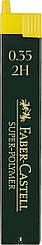 Грифель для механического карандаша Faber-Castell Super-Polymer 2Н (0,3 / 0.35 мм), 12 штук в пенале, 120312