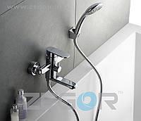 Смеситель для ванны с душем Zegor Z65-LOB3 (LOB3-A128) однорычажный с коротким изливом цвет хром