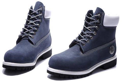 Мужские ботинки Тимберленд original Timberland Classic 6 inch Blue White  Boots синие оригинал ef5d9b6289719