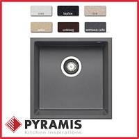 Гранитная кухонная мойка Pyramis Tetragon (40x40) 1b  iron-grey, фото 1