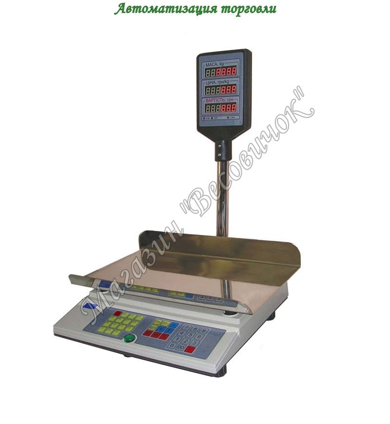 Ваги торгові ВТА-60/30-5-Ш (30 кг) (240*400мм)