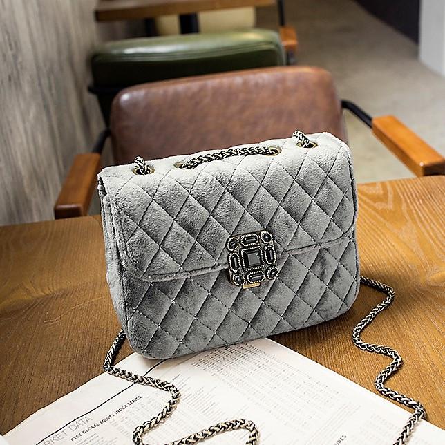 ... Женские сумочки и клатчи  Женская сумка бархатная Серая. Женская сумка  бархатная Серая a4423c65af1