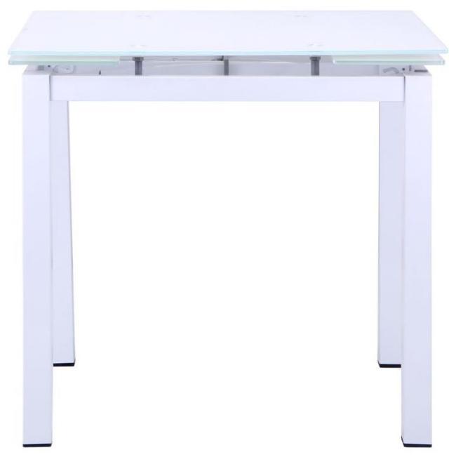 Стол Корфу 800(1250)х650х770 База белый/Стекло белый (фото 2)
