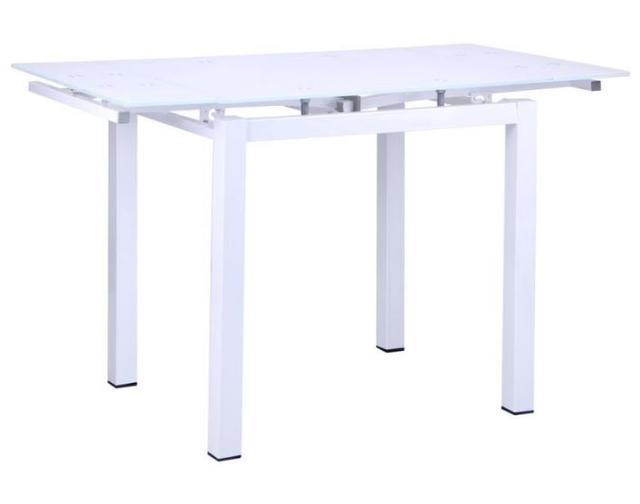 Стол Корфу 800(1250)х650х770 База белый/Стекло белый (фото 3)