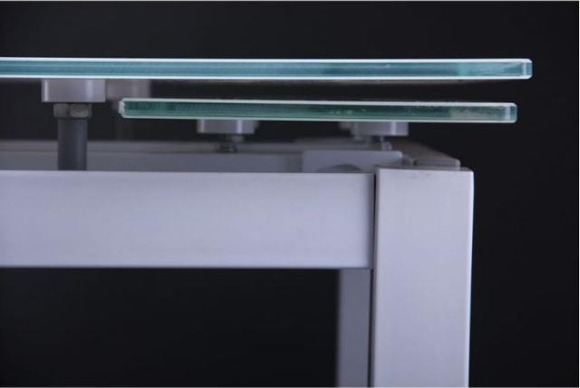 Стол Корфу 800(1250)х650х770 База белый/Стекло белый (фото 6)
