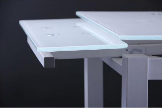 Стол Корфу 800(1250)х650х770 База белый/Стекло белый (фото 7)