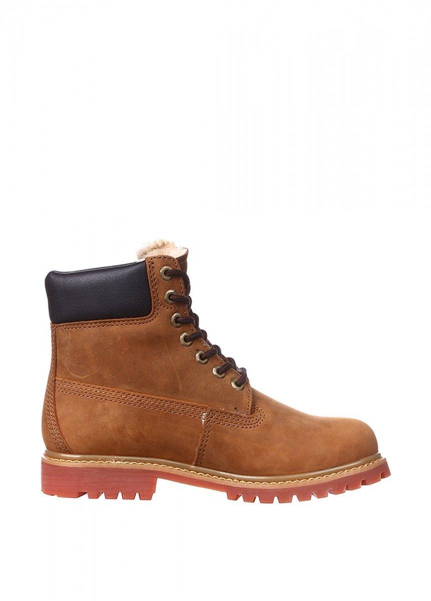 Оригинальные мужские ботинки Timberland (Тимберленд) - коричневые, с мехом