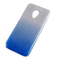 Чехол-накладка TOTO TPU Case Rose series Gradient для Meizu M5 Silver / Blue