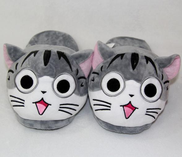 Тапочки-кигуруми Серый кот  dd5c89004ee6c