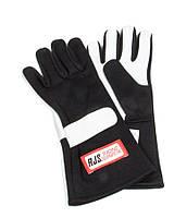 Гоночные перчатки RJS SFI-3.3/1 X-Large черно-белые, фото 1