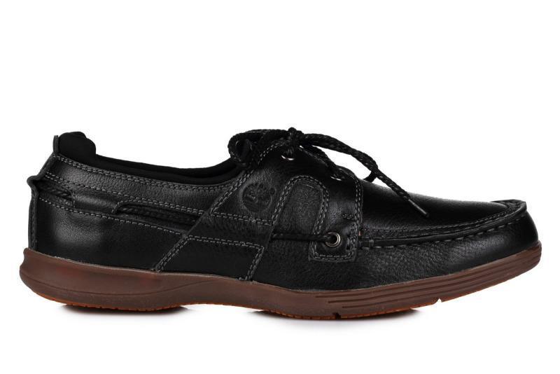 Оригинальные мужские мокасины Timberland Top-Siders Black тимберленд черные