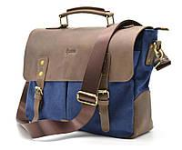 Мужская сумка-портфель кожа+парусина RK-3960-3md от украинского бренда TARWA