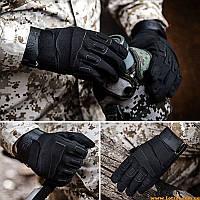 Тактические перчатки BlackHawk для стрельбы, охоты, АТО, Черные
